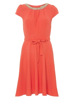 Billie & Blossom  - Coral Embellished Dress