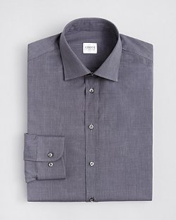 Armani Collezioni  - Textured Solid Dress Shirt