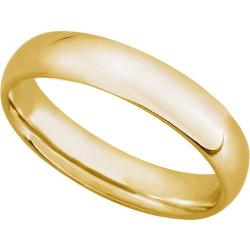 Oxford Ivy - 10K Yellow Gold 5mm Comfort Fit Mens Plain Wedding Band