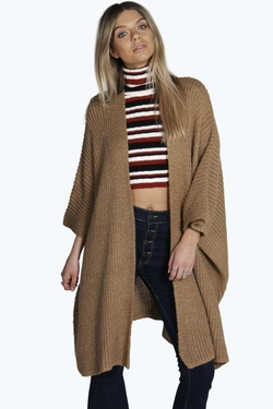 BooHoo - Lilly Soft Knit Cape Cardigan