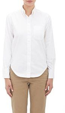 Vis A Vis - Oxford Cloth Button-Down Shirt-White