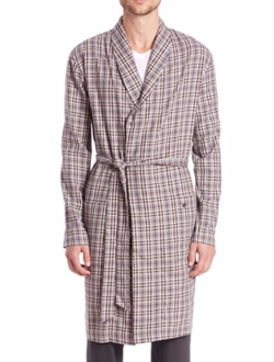 Hanro - Check Cotton Robe