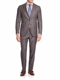 Isaia - Two-Button Check Italian Wool Suit