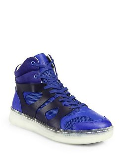 Puma  - Leather High-Top Sneakers