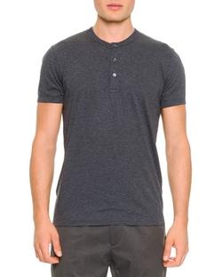 Dolce & Gabbana - Short-Sleeve Henley Tee Shirt
