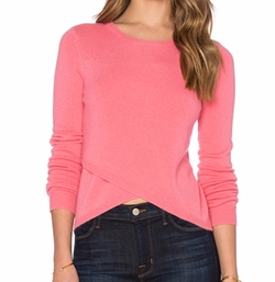 27 Miles Malibu - Twiggy Cross Front Crop Sweater