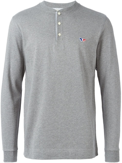 Maison Kitsuné - Long Sleeve Henley T-Shirt