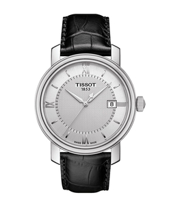 Tissot - Mens Bridgeport Leather Strap Watch