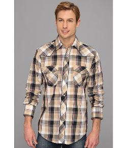 Roper  - Khaki/Navy Plaid