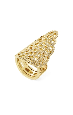 Bcbgmaxazria - Pave Filigree Pointed Ring