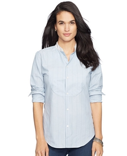 Lauren Ralph Lauren - Striped Button-Front Shirt