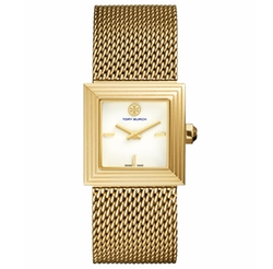 Tory Burch  - Sawyer Onyx Mesh-Strap Watch