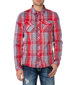 Rock Revival - Plaid Long-Sleeve Sportshirt