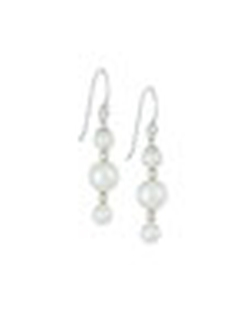 Majorica - Triple-Pearl Linear Drop Earrings
