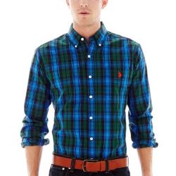 U.S. Polo Assn. - Long-Sleeve Plaid Woven Shirt