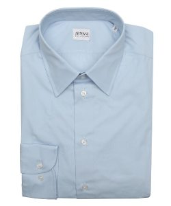 Armani - Cotton Point Collar Dress Shirt