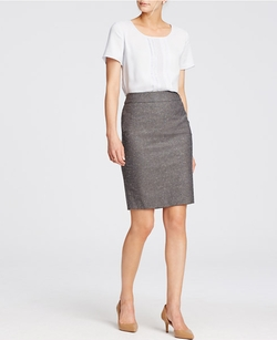 Ann Taylor - Petite Refined Tweed Pencil Skirt