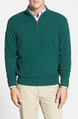 Peter Millar  - Wool Blend Quarter Zip Sweater