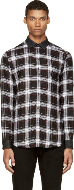 Diesel  - Black Plaid Flannel S-Kinops-K Shirt