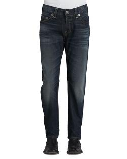 True Religion	  - Geno Slim-Fit Blue Jeans