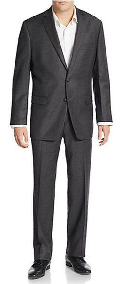 Calvin Klein - Slim-Fit Solid Wool & Silk Suit