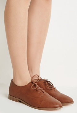 Forever21 - Classic Faux Leather Oxfords