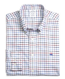 Brooks Brothers - Supima Cotton Slim Fit Non-Iron Multi Tattersall Oxford Sport Shirt