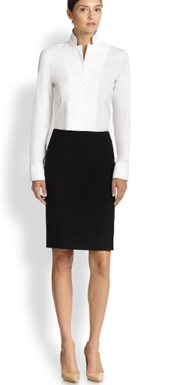 Akris - Architecture Collection Wool Pencil Skirt