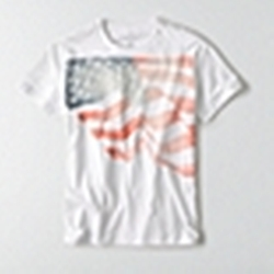 American Eagle Outfitters - Flag Graphic T-Shirt