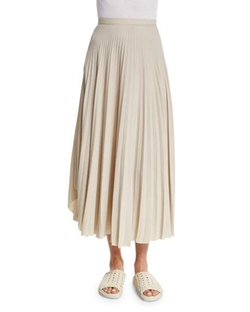 Helmut Lang - Pleated Chiffon High-Waist Midi Skirt