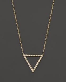 Zoë Chicco - Pavé Diamond Open Triangle Necklace
