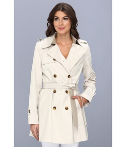 DKNY  - Belted Trench With Color Block Details