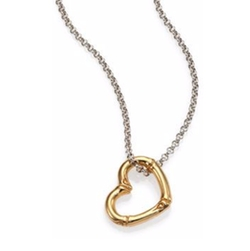 John Hardy - Bamboo 18K Yellow Gold & Sterling Silver Heart Pendant Necklace