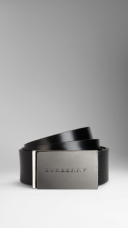 Burberry - Leather Plaque Buckle Belt