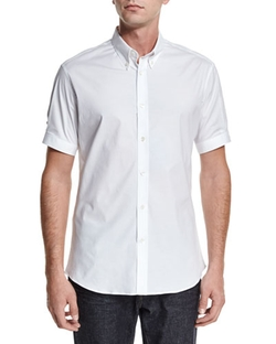 Alexander McQueen   - Short-Sleeve Button-Down Shirt