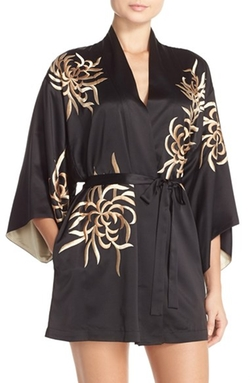 Natori - Empress Embroidered Charmeuse Robe