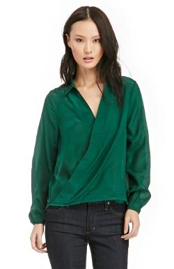 Line & Dot - Moore Criss-cross Silk Blouse