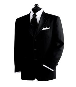 Black - 3-Button Tuxedo Jacket