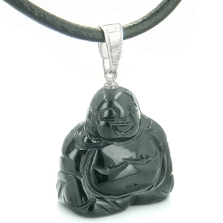 BestAmulets - Buddha Amulet Black Agate Necklace