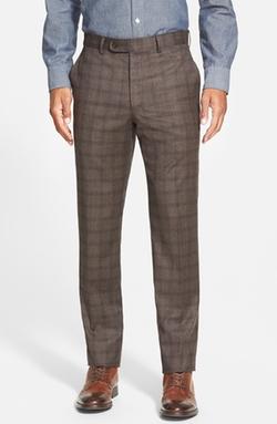 Bensol - Plaid Wool Pants