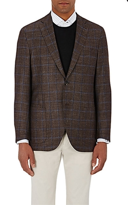 Luciano Barbera  - Plaid Two-Button Sportcoat