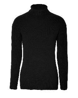 BALMAIN  - Cashmere Turtleneck Pullover in Black