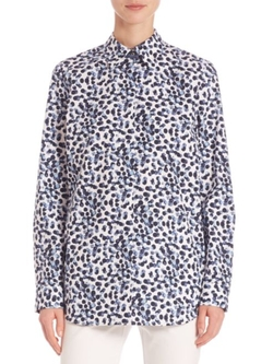 Lafayette 148 New York  - Dotted Button-Front Shirt