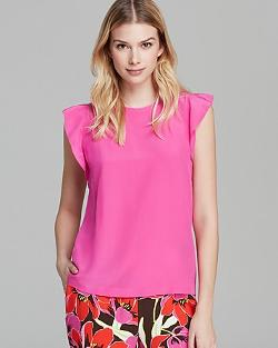 Kate Spade New York  - Silk Frill Shell