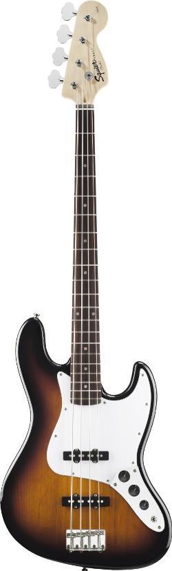 Squier - Fender Squier Affinity Jazz Bass, Brown Sunburst, Rosewood Fretboard