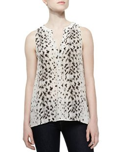 Joie  - Aruna Printed Chiffon Sleeveless Top