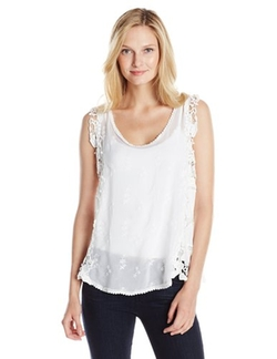 Johnny Was  - Lacy Mesh Tank Top