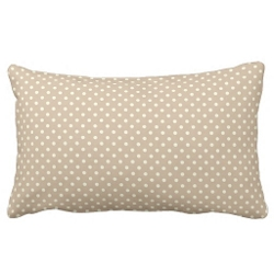 Zazzle - Beige & Brown Polka Dots Pattern Throw Pillow