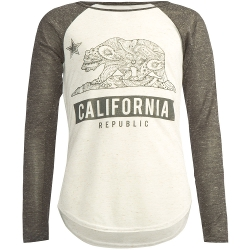 Full Tilt - Cali Bear Girls Raglan Tee