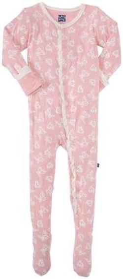 KicKee  - Pants Print Ruffle Footie Pajama